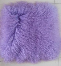 Real Mongolian Tibetan Lamb Fur Pillow Cover Sofa Decorative Cushion Pil... - $47.49+