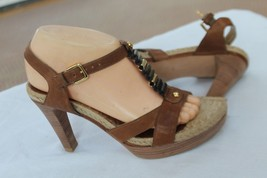 Stuart Weitzman Size 7 1/2 M High Heel Espadrille Platform Open Toe Sandals Shoe - $39.60