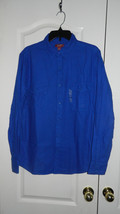 Arizona Jean Co. Men's Long Sleeve Shirt Ideal Blue Large New with Tags NWT - $15.99