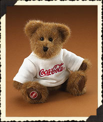 "Boyds Bears ""Billy""  #919914- 8"" Coca Cola Plush Bear -Licensed~ 2005~Retired"