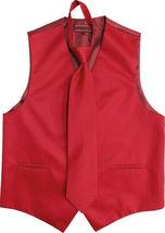 Men's Solid Color Adjustable Dress Vest & Neck Tie Set for Suit or Tuxedo image 12