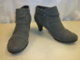 Aerosoles New Womens Play Pleat Gray Ankle Boots 6 M Shoes - $78.21