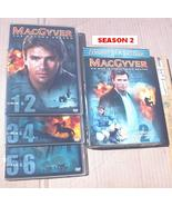 MacGyver Season 2 DVD TV Series 6 Disc Box Set TESTED Richard Dean Ander... - $5.79