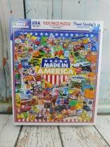 """White Mountain Puzzle """"Made In America"""" 1000 Pcs New (Has Tear In Shrink... - $24.74"""