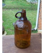 Antique Large Texize Bottle Amber Brown Glass  - $40.00