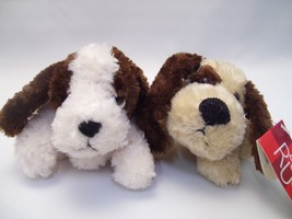 """RUSS Set of two flopple beanie 5in. Puppy Dogs """"Tanner"""" and """"Droozy""""  RE... - $12.50"""