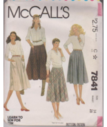 McCalls 7841 Misses Skirt Sewing Pattern Size 1... - $4.00