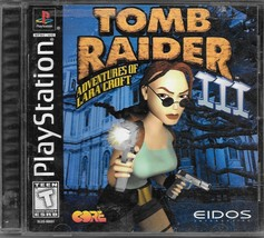 Tomb Raider III: Adventures of Lara Croft (Sony PlayStation 1, 1998) - $5.00
