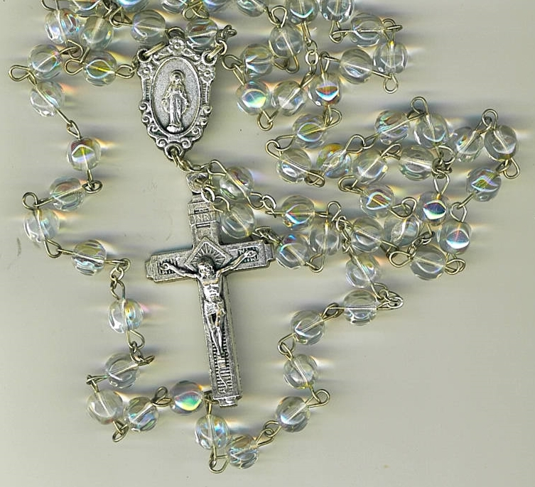 Rosary - Clear round Bead - MB-1090A/CLEAR