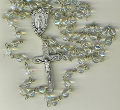 Rosary - Clear round Bead - MB-1090A/CLEAR image 1