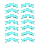 Light Blue Ribbons3-Digital Download-ClipArt-ArtClip-Digital - $4.00