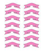 Pink Ribbons5-Digital Download-ClipArt-ArtClip-Digital - $4.00