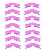 Pink Ribbons7-Digital Download-ClipArt-ArtClip-... - $3.85