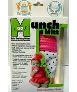 Malarkey Kids Munch Mitt Teething Mitten Pink Shimmer For 3-8 Months New! - $7.83