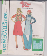 Vintage McCalls 5136 Misses Tunic Top and Hand ... - $4.00