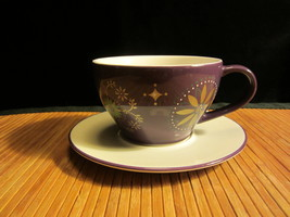 Starbucks Coffee Tea 2006 Holiday Star Fish Mug & Saucer 12 Oz Purple - $18.99