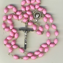 Rosary - Pink oblong Bead - MB-1067A/P - $17.99