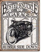 Busted Knuckle Garage Metal Tin Sign Nostalgic ... - $21.95