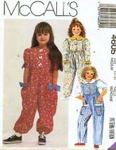 McCalls 4605 Vintage Sewing Pattern Girls Jumper Jumpsuit Girls Size5-6 - $7.95