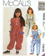 McCalls 4605 Vintage Sewing Pattern Girls Jumper Jumpsuit Girls Size5-6 - $7.95