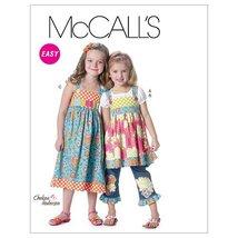 McCalls 6313 Girls' Tops Dress Belt and Ruffle Size 2-3-4-5 Sewing Pattern - $9.95