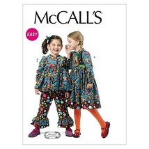 McCalls 6429 Girls' Tops Dress and Pants Size 6-7-8 Sewing Pattern New - $9.95