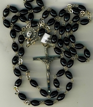 Rosary   black oval cocoa beads 5126 b 001 thumb200