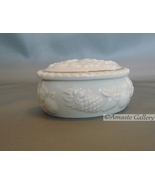 Lenox Oval Trinket Box (Cream Color with Fruit Design) - $9.95