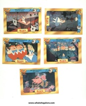 5 European Alice in Wonderland trading cards - $15.00