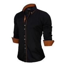 High Quality Men's Shirt New Fashion 100% Cotton Men's Slim Business Casual T-sh - $45.70
