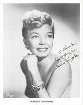 Frances Langford (d. 2005) Signed Autographed Glossy 8x10 Photo - COA Ma... - $39.59