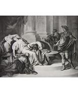 AUGUSTUS CAESAR Mourning Cleopatra - Photogravure Antique Print - $14.40