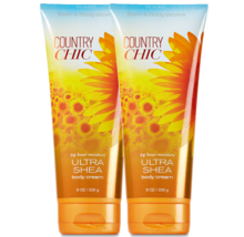 BATH & BODY WORKS Country Chic 8.0 Ounces Body Cream Duo Set - $26.58