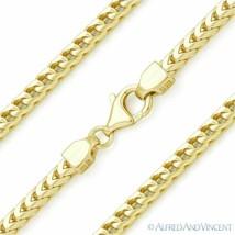 Italy .925 Sterling Silver GP 3mm Arrow Link Franco Chain Men's Italian Bracelet - $45.74