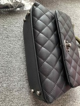 AUTHENTIC BRAND NEW CHANEL QUILTED BLACK CAVIAR SMALL COCO PYTHON HANDLE BAG RHW image 5