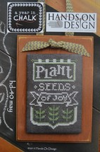 May A Year In Chalk series cross stitch chart Hands On Design - $5.00