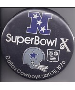 "Vintage SUPERBOWL X: Dallas Cowboys Jan 18, 1976 6"" Pinback Button - $15.95"