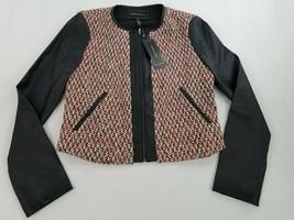new BCBGMAXAZRIA women jacket TMU4252811-977 082018 black red white S $198 - $49.49