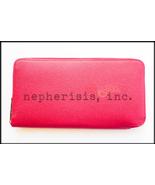 AUTH BNIB Hermes SILK'IN Long Zip Wallet Epsom RUBIS & ROSE TYRIEN Silk ... - $2,000.00