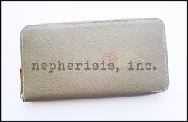 AUTH NIB Hermes SILK'IN Long Zip Epsom Wallet ETOUPE & ROSE SHOCKING Sil... - $2,000.00