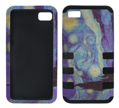 for Hybrid Tuff Starry Night Design for Blackberry Z10 BB10 Case Cover - $9.26