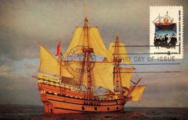 FDC POSTCARD - LANDING OF THE PILGRIMS-1970 - AN HISTORAMA CARD  BK17 - $2.94