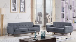 American Eagle AE2370 Dark Gray Tufted Sofa and Loveseat Set Fabric 2Pcs - $1,695.00