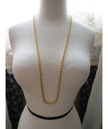 "Aurum Clad Gold Plated 35"" Long Chain Necklace ... - $14.99"