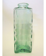 Three Cornered Art Glass Bottle Spain Signed for Wine, Beer, or Collectible - $66.82