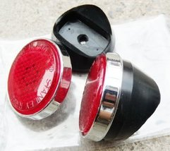 Honda CD50 CD65 CD70 Reflector L/R with rubber New (Red) - $14.69