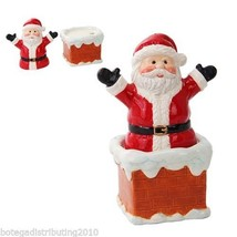 Santa Chimney Magnetic Salt Pepper Shaker Set Christmas Pals Navidad Sal... - $12.38