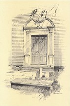 1922 Print of the Doorway of Trinity Church , N... - $13.99