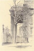 1922 Print of Portico St. John's Church Varick Street New York - $13.99