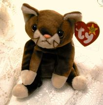 TY Beanie Baby POUNCE Cat Brown Kitten Kitty, Pink Nose 97 tush tag MWMT... - $9.99